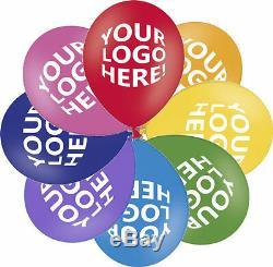 100 Custom Printed Balloons Helium Quality Personalised & Branded Logo Balloons
