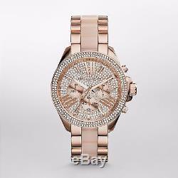 100% NEW N BOX AUTHENTIC Michael Kors MK6096 Wren Blush Rose Gold Crystal Watch