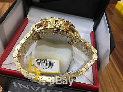 1568 Invicta Men's 52mm Reserve Swiss Quartz 18k Gold Plated SS Bracelet Watch