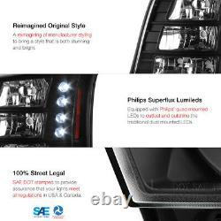 2003-2006 Chevy Silverado CONVERSION PKG 03-05 Avalanche LED Headlights Black