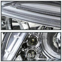 2005-2010 Scion tC LED Halo Crystal Clear Lens Projector Headlights Left+Right