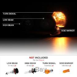 2006-2009 Toyota 4Runner 4 Runner TRD STYLE Crystal Black Headlights Assembly