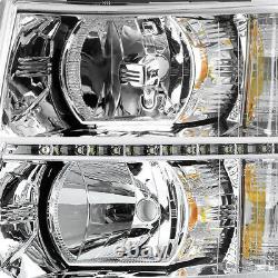 2007-2013 Chevy Silverado 1500 2500HD 3500HD LED SMD DRL Headlights Headlamps