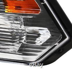 2009-2018 Dodge Ram 1500/2500/3500 Crystal Quad Headlights Lamps Left+Right