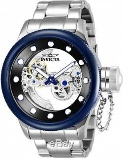 26274 Invicta Russian Diver Automatic Ghost Bridge Men's 52mm SS Bracelet Watch