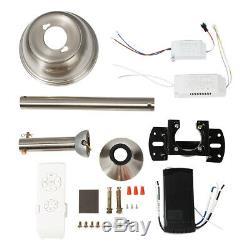 42 Invisible Ceiling Fan Light Bluetooth Modern Speaker Led Chandelier+Remote