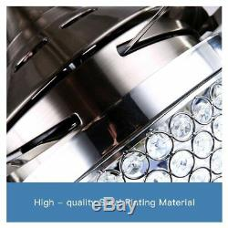 44 Crystal Ceiling Fan Light Lamp LED Chandeliers Home Decor Stainless Steel
