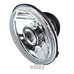 5-3/4 Projector Crystal Clear Headlight 6k LED HID H4 Light Bulbs Headlamp Set