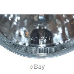 5-3/4 Projector Crystal Clear Headlight LED 4000Lm H4 Light Bulb Headlamp Set