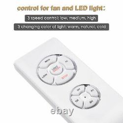 52 5 Blades Ceiling Fan Light Kit Remote Reversible Restaurant Cafe Chandelier