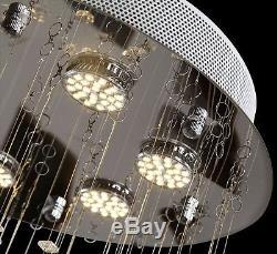 7 Lights Modern LED Crystal luxury Ceiling Lighting Fixture Chandelier Hallway