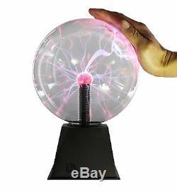 8 Nebula Plasma Ball Touch & Sound Motion Disco Party Light Globe