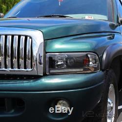 94-01 Dodge Ram 1500 2500 3500 Crystal Black LED Projector Headlights