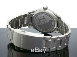 BRAND NEW Hamilton Men's Khaki Field Black Dial Steel Band Watch H68411133