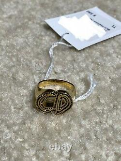 BRAND NEW WITH TAG Dior and Raymond Pettibon Ring in Brass & Crystals Size L