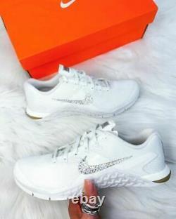 BRAND NEW Womens Nike Metcon encrusted with Genuine Swarovski Crystals