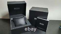 Brand New 1513092 Hugo Boss Rose Gold Leather Strap Driver Sports Men's Watch Uk