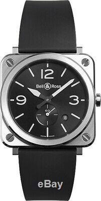 Brand New Bell & Ross Instruments BR S Quartz Men's Watch BRS-BLC-ST on Sale