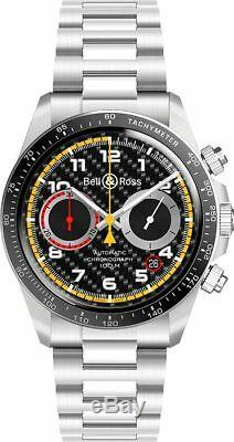 Brand New Bell & Ross Vintage Chronograph Limited Edition Watch BRV294-RS18/SST