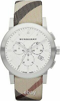 Brand New Burberry BU9357 Nova Check 42 mm Stainless Steel Chronograph Unisex
