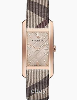 Brand New Burberry BU9408 Pioneer Nova Check Strap Rose Gold Toned Women's Watch