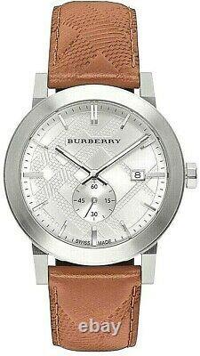 Brand New Burberry BU9904 The City Embossed Check Men's Watch
