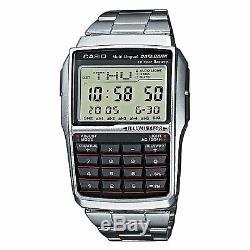 Brand New Casio Steel Databank Calculator Watch Dbc32d-1a Uk Seller