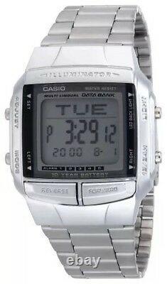 Brand New Casio Steel Databank Watch Db360-1av Rrp £59 Uk Seller