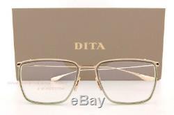 Brand New DITA Eyeglass Frames SCHEMA-ONE DTX106-55-01 Gold/Crystal Grey