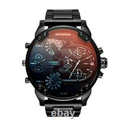 Brand New Diesel DZ7395 Mr. Daddy 2.0 Chronograph Black Bracelet Men's Watch