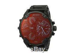 Brand New Diesel Dz7395 Mr. Big Daddy 2.0 Multiple Time Zones Black Mens Watch
