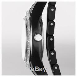 Brand New Emporio Armani Ladies Black Double Band Ceramica Watch AR1483
