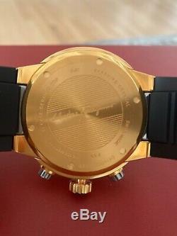 Brand New Ferragamo F-80 Chrono Rose Gold Titanium Watch Men