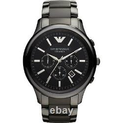 Brand New Genuine Emporio Armani Ar1451 Black Dial Ceramic Mens Watch Uk