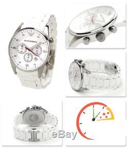 Brand New Genuine Emporio Armani Ar5859 White Mens Watch 2 Years Warranty
