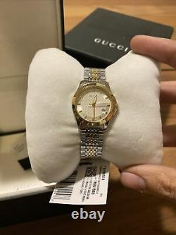 Brand New Gucci YA126511 G-Timeless 38MM Women's Two-Tone Stainless Steel Watch