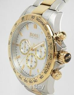 Brand New Hugo Boss Hb1512960 Two Tone Gold And Silver Mens Watch Uk Stock