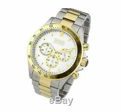 Brand New Hugo Boss Mens Ikon Chrono Watch Hb1512960 Two Tone Gold And Silver