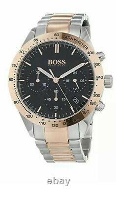 Brand New Hugo Boss Talent Rose Gold Tone Chronograph Men Watch 1513584