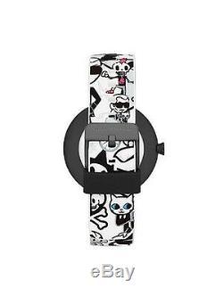 Brand New Karl Lagerfeld Kl2210 Pop Tokidoki Black & White Graphic Watch