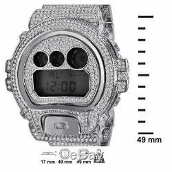 Brand New Men's Real G-Shock Simulated Diamond Watch+ Bezel+Watch Band 10 Ctw