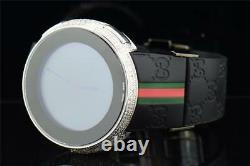 Brand New Mens I-Gucci Digital White Diamond Watch 2.50 CT. YA114207