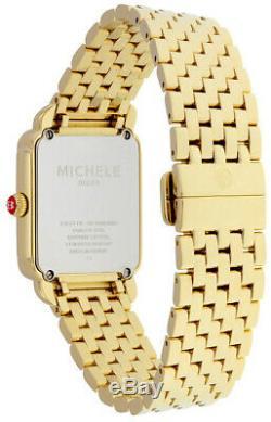 Brand New Michele Deco II Mid Yellow Gold & Diamond Ladies Watch (MWW06I000007)