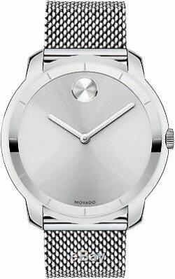 Brand New Movado Bold 3600260 Silver Stainless Steel Men's Swiss Quartz Watch