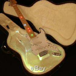 Brand New ST Electric Guitar LED Light Acrylic Body Crystal Guitar Colorful