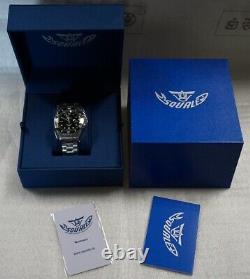 Brand New Squale Y1545 20 Atmos Classic Black Watch Warranty CERAMIC MK III