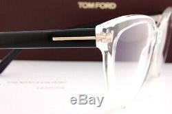 Brand New Tom Ford Eyeglass Frames 5639-B/V 026 Crystal/Black Women Size 54mm