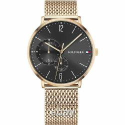 Brand New Tommy Hilfiger Brooklyn Rose Gold 1791506 Men's Chronograph Watch