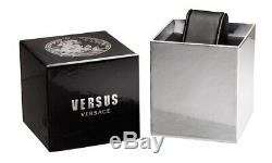 Brand New Versace Versus Vsp213718 Brick Lane Black Leather Women's Watch