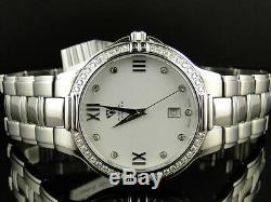 Brand New Womens And Mens White Aqua Master Genuine Diamond Watch Set